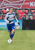 06 April 2013: FC Dallas midfielder Andrew Jacobson #4 in action during an MLS game between FC Dallas and Toronto FC at BMO Field in Toronto, Ontario Canada..The game ended in a 2-2 draw..