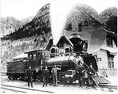 D&amp;RG locomotive #205 built in 1881.<br /> RGS  Ouray, CO  1895