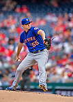 22 September 2018: New York Mets pitcher Corey Oswalt on the mound against the Washington Nationals at Nationals Park in Washington, DC. The Nationals shut out the Mets 6-0 in the 3rd game of their 4-game series. Mandatory Credit: Ed Wolfstein Photo *** RAW (NEF) Image File Available ***