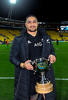 NZ's Ofa Tuungafasi after the Steinlager Series international rugby match between the New Zealand All Blacks and France at Westpac Stadium in Wellington, New Zealand on Saturday, 16 June 2018. Photo: Dave Lintott / lintottphoto.co.nz
