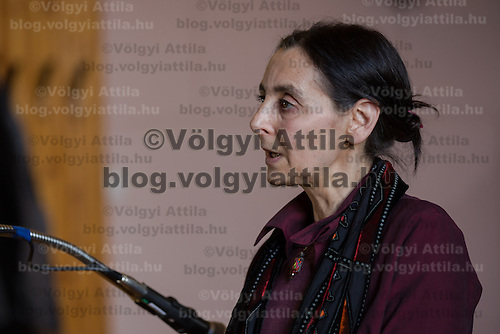 Agnes Gereb main figure of Hungary's home birth movement faces trial in Budapest, Hungary on December 06, 2012. ATTILA VOLGYI