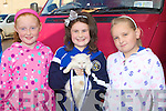 BEST CAT: Siomha Hanafin, Ballinclare winner of the best cat at the Pet Show at the Annascual Fair on Sunday l-r: Edel Campion, Annascual, Siomha Hanafin, Ballinclare and Eileen McGovern, Annascual.