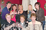 CHEERS: What a night at The West End Bar & Restaurant as the Ladies from Fenit celebrate Women's Christmas. Front l-r: Margaret Brophy, Mary Quirke and Margaret Quirke. Back l-r: Helena Williams, Julianne Daly, Dolly Kelly-O'Sullivan, Margaret O'Sullivan and Frances McCarthy.   Copyright Kerry's Eye 2008