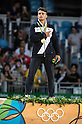 Fabio Basile (ITA),<br /> AUGUST 7, 2016 - Judo :<br /> Fabio Basile of Italy stands on the podium with his gold medal during the Men's -66kg Medal Ceremony at Carioca Arena 2 during the Rio 2016 Olympic Games in Rio de Janeiro, Brazil. (Photo by Enrico Calderoni/AFLO SPORT)