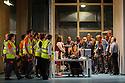 English National Opera presents LADY MACBETH OF MTSENSK, at the London Coliseum. Directed by Dmitri Tcherniakov. Picture shows: Patricia Racette (Katerina Lvovna Ismailova), Peter Hoare (Zinovy Borisovich Ismailov).