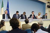 """Roma, 29 Ago 2014<br /> Sblocca Italia e riforma della Giustizia.<br /> Conferenza stampa dei Ministri al termine del Consiglio.<br /> Gianluca Galletti, Maurizio Lupi, Graziano Del Rio, Andrea Orlando, Federica Guidi, Pier Carlo Padoan<br /> Press conference """"Unlock Italy"""" .<br /> Rome, 29 August 2014 <br /> Unlock Italy and justice reform. <br /> Press Conference at the end of the Council of Ministers. <br /> Gianluca Galletti, Maurizio Lupi, Graziano Del Rio, Andrea Orlando, Federica Guidi, Pier Carlo Padoan"""