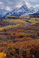 Wolcott Mountain,  Sneffels Range<br />   from Dallas Divide<br /> San Juan Mountains<br /> Rocky Mountains,  Colorado