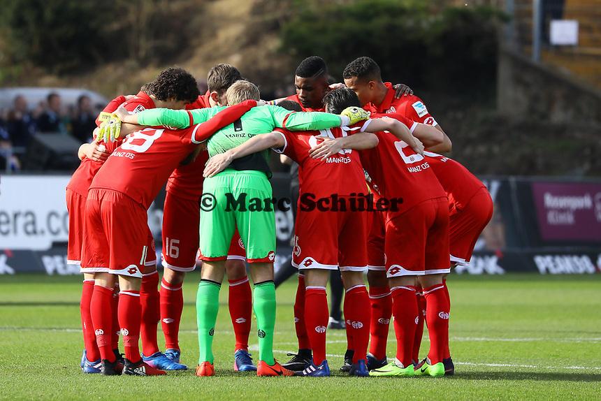 Mainz schwört sich ein - 11.03.2017: SV Darmstadt 98 vs. 1. FSV Mainz 05, Johnny Heimes Stadion am Boellenfalltor