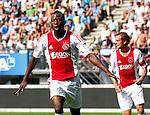 Nederland, Nijmegen, 19 augustus 2012.Eredivisie.Seizoen 2012-2013.N.E.C.-Ajax (1-6).Jody Lukoki van Ajax juicht nadat hij de 0-1 heeft gescoord