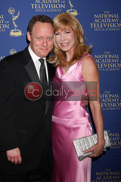 LOS ANGELES - JUN 20:  Steven Fenton, Leeza Gibbons at the 2014 Creative Daytime Emmy Awards at the The Westin Bonaventure on June 20, 2014 in Los Angeles, CA