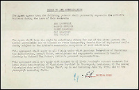 BNPS.co.uk (01202 558833)<br /> Pic: HAldridge/BNPS<br /> <br /> Elvis Presley's first music agency contract which paved the way for the relatively unknown country singer to be propelled into superstardom has emerged for auction 40 years after his death.<br /> <br /> The historic document was signed by Elvis on January 31, 1956 in New York with the William Morris Agency who would represent him for his entire career.<br /> <br /> In the contract, Elvis laid out his demands to his new representatives that would ensure the rising star was always in the public spotlight.<br /> <br /> The document is now being sold by Henry Aldridge and Son of Devizes, Wilts, for &pound;30,000.