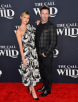 "LOS ANGELES, CA: 13, 2020: Hayley Erin & Adam Fergus at the world premiere of ""The Call of the Wild"" at the El Capitan Theatre.<br /> Picture: Paul Smith/Featureflash"