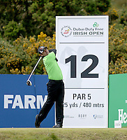 Sunday 31st May 2015; Felipe Aguilar, Chile, on the 12th tee<br /> <br /> Dubai Duty Free Irish Open Golf Championship 2015, Round 4 County Down Golf Club, Co. Down. Picture credit: John Dickson / DICKSONDIGITAL
