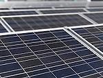 Polycrystalline solar panels close-up