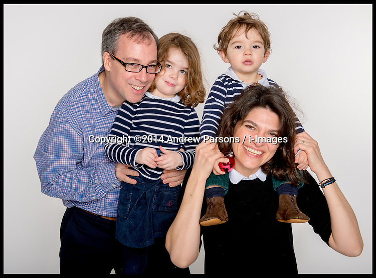 ©Licensed to i-Images Picture Agency. 13/12/2014. Beetley, Norfolk. Portrait of Ed and family. Picture by Andrew Parsons / i-Images
