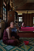 Monks at the Inle Lake Monastery,Inle Lake Festival - Inle Lake, Shan State, Myanmar