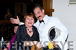 Noreen Nagle Killarney with Manuel at the Fauwlty Towers Womens Christmas in the Brehon Hotel on Saturday night