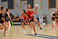 Tactix' Erikana Pedersen in action during the Preseason Tournament - Tactix v Magic at Ngā  Purapura, Otaki, New Zealand on Saturday 9 February  2019. <br /> Photo by Masanori Udagawa. <br /> www.photowellington.photoshelter.com