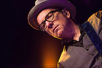 "Elvis Costello performing for the ""Veranos de la villa""  at the Price Circus, Madrid."