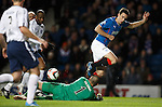 Lee Wallace on a mazy run in the box