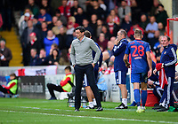 Sunderland manager Jack Ross shouts instructions to his team from the technical area<br /> <br /> Photographer Andrew Vaughan/CameraSport<br /> <br /> The EFL Sky Bet League One - Lincoln City v Sunderland - Saturday 5th October 2019 - Sincil Bank - Lincoln<br /> <br /> World Copyright © 2019 CameraSport. All rights reserved. 43 Linden Ave. Countesthorpe. Leicester. England. LE8 5PG - Tel: +44 (0) 116 277 4147 - admin@camerasport.com - www.camerasport.com