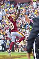 Landover, MD - September 23, 2018: Washington Redskins wide receiver Jamison Crowder (80) celebrates his touchdown during game between the Green Bay Packers and the Washington Redskins at FedEx Field in Landover, MD. The Redskins get the win 31-17 over the visiting Packers. (Photo by Phillip Peters/Media Images International)