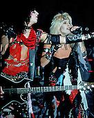 NEW YORK CITY, NY JANUARY 30: Vince Neil and Nikki Sixx of Motley Crue perform at Madison Square Garden on on January 30, 1984 in New York City, New York.  photo by Larry Marano (C) 1984.