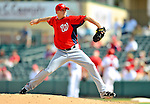 3 March 2011: Washington Nationals' pitcher Tim Wood on the mound during a Spring Training game against the St. Louis Cardinals at Roger Dean Stadium in Jupiter, Florida. The Cardinals defeated the Nationals 7-5 in Grapefruit League action. Mandatory Credit: Ed Wolfstein Photo