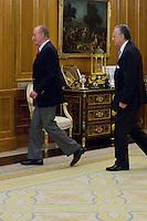 Juan Carlos I of Spain attend the audience with I&ntilde;aki Azkuna Urreta, Mayor of Bilbao, at the Royal Palace of La Zarzuela. In the image King Juan Carlos and I&ntilde;aki Azkuna Urreta (Alterphotos/Marta Gonzalez) /NortePhoto.com<br /> <br />  **CREDITO*OBLIGATORIO** *No*Venta*A*Terceros*<br /> *No*Sale*So*third* ***No*Se*Permite*Hacer Archivo***No*Sale*So*third*