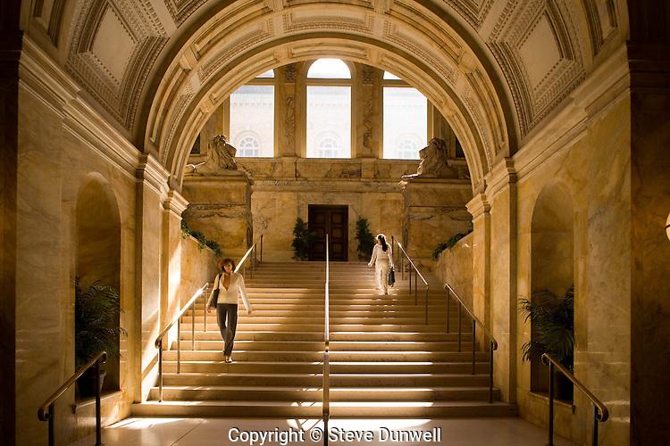 Boston Public Library staircase, Boston, MA (architect = McKim, Meade & White)