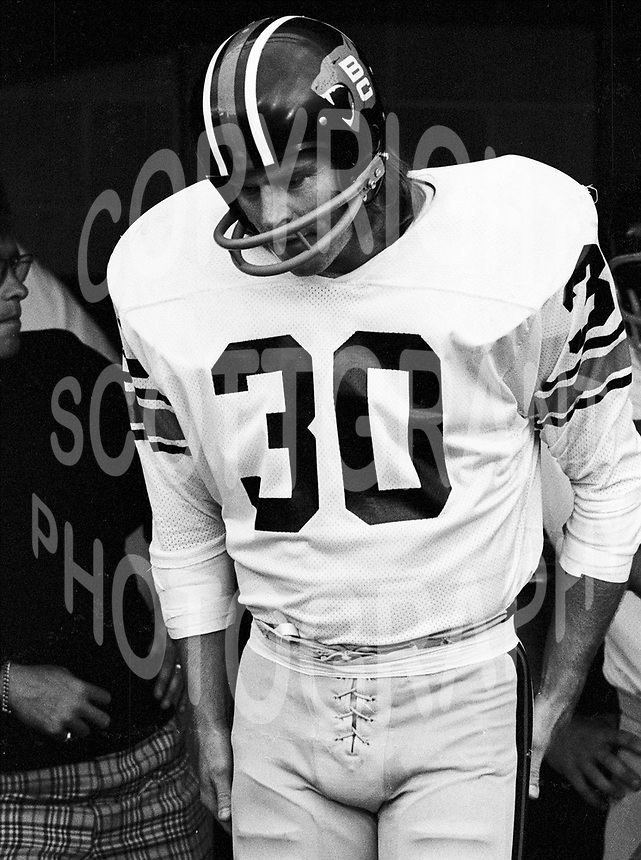 "Jim ""dirty 30"" Young BC Lions 1974. Copyright photograph Scott Grant"