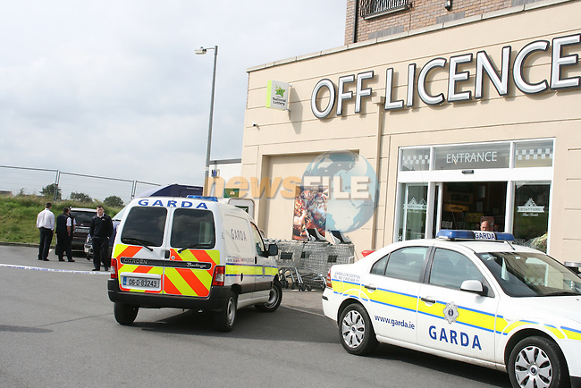 Scene of the security van raid at Staffords Supermarket, Drogheda....