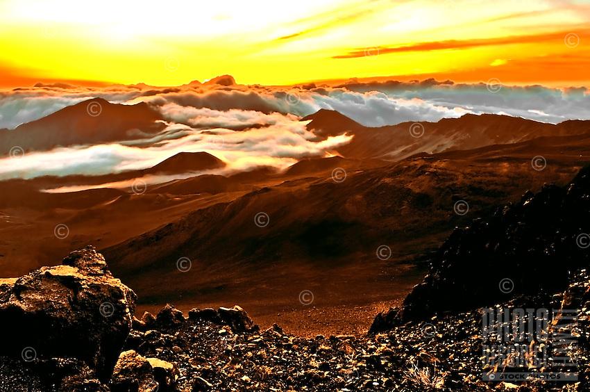 Sunrise at 10,000 feet above sea level, Mt. Haleakala, Maui