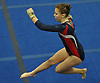 Katie Poscillico of Cold Spring Harbor twirls through the air during her floor routine in the Nassau County varsity gymnastics team championship at Berner Middle School in Massapequa on Thursday, Feb. 15, 2018.