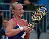 Paris, France, 28 June, 2016, Tennis, Roland Garros, Kiki Bertens (NED) defeated Daria Kasatkina (RUS) and celebrates emotionaly<br /> Photo: Henk Koster/tennisimages.com
