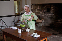 Reenactor at the Prall House, Prallsville Mills, Stockton, New Jersey
