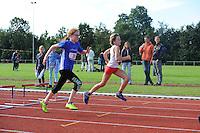 ATLETIEK: HEERENVEEN: 19-09-2015, Athletic Champs AV Heerenveen, Maaike Kramer (#30 | 11 jaar), ©foto Martin de Jong