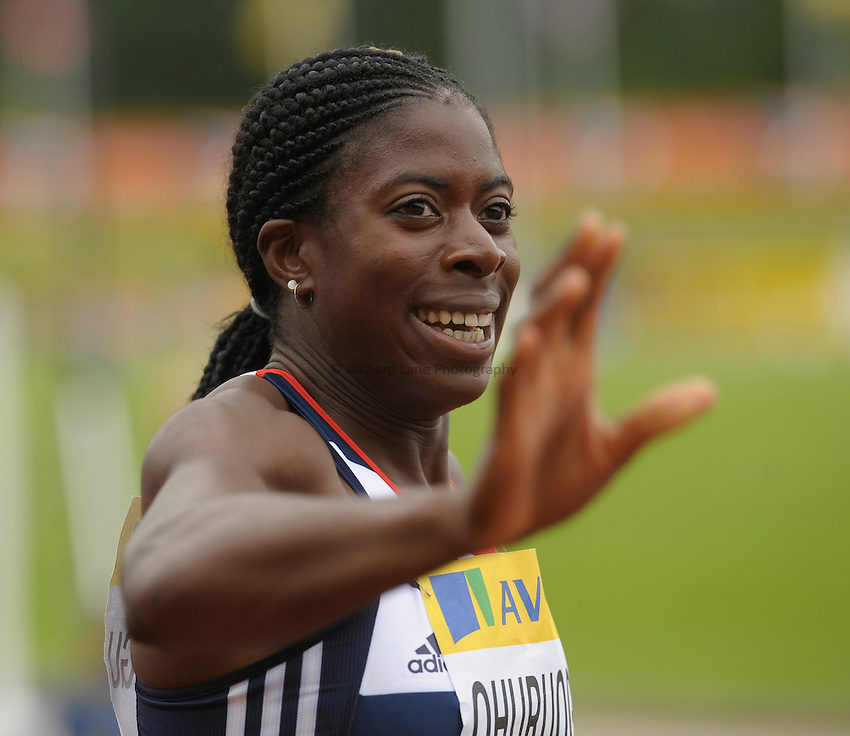 Photo: Ady Kerry/Richard Lane Photography..Aviva World Trials & UK Championships athletics. 11/07/2009. .Christine Ohuruogu after winning the 400m