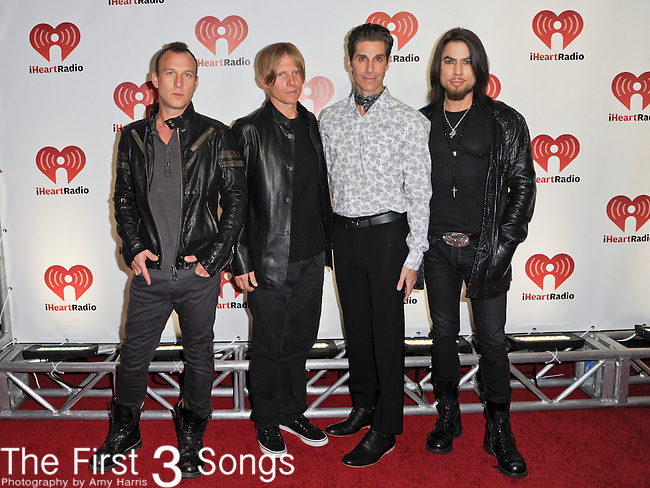Stephen Perkins, Chris Chaney, Perry Farrell, and Dave Navarro of Jane's Addiction attend the 2011 iHeartRadio Music Festival on September 23, 2011 at the MGM Garden Arena in Las Vegas, Nevada.