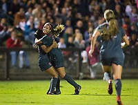 STANFORD, CA - August 24, 2018: Kiki Pickett, Sophia Smith, Jordan DiBiasi at Laird Q. Cagan Stadium. The Stanford Cardinal defeated the USF Dons 5-1.