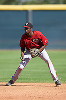 Arizona Diamondbacks Manny Jefferson (12) during an Instructional League game against the Colorado Rockies on October 7, 2016 at Salt River Fields at Talking Stick in Scottsdale, Arizona.  (Mike Janes/Four Seam Images)