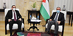 Palestinian Prime Minister Mohammad Ishtayeh, receives the Ambassador of the Republic of Nicaragua to Palestine in the West Bank city of Ramallah, on June 21, 2020. Photo by Prime Minister Office