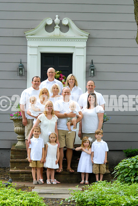 YARDLEY, PA - June 2: The Hunter family is photographed June 2, 2012 in Yardley, Pennsylvania. (Photo by William Thomas Cain/Cain Images)
