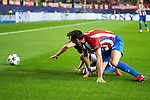 Atletico de Madrid's player Diego Godín and Bayern Munich's player Thomas Muller during match of UEFA Champions League at Vicente Calderon Stadium in Madrid. September 28, Spain. 2016. (ALTERPHOTOS/BorjaB.Hojas)