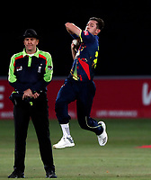 Adam Milne bowls for Kent during the Vitality Blast T20 game between Kent Spitfires and Essex Eagles at the St Lawrence Ground, Canterbury, on Thu Aug 2, 2018