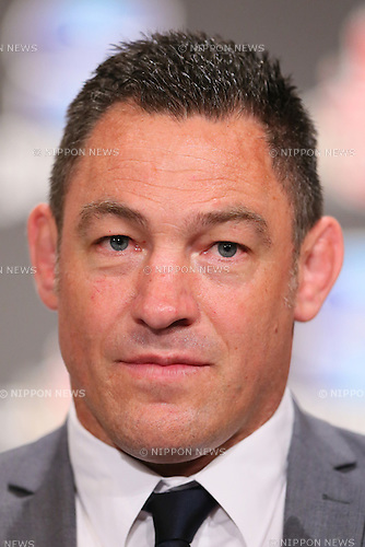 HC/Mark Hammet head coach, <br /> DECEMBER 21, 2015 - Rugby : <br /> Press conference about  Super Rugby Japanese team &quot;SUNWOLVES&quot; squad announcement <br /> in Tokyo, Japan.<br /> (Photo by Yohei Osada/AFLO SPORT)
