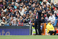 29.04.2012 SPAIN -  La Liga matchday 36th  match played between Real Madrid CF vs Sevilla Futbol Club (3-0) at Santiago Bernabeu stadium. The picture show Michel coach of Sevilla futbol Club