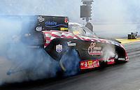 Feb. 12, 2012; Pomona, CA, USA; NHRA funny car driver Gary Densham during the Winternationals at Auto Club Raceway at Pomona. Mandatory Credit: Mark J. Rebilas-