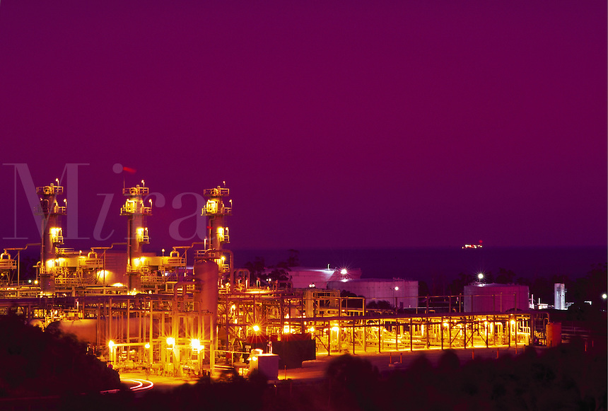 Oil processing facility, Gaviota, California