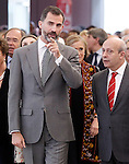 Prince Felipe of Spain and Jose Antonio Wert, Minister of Education and Culture of Spain attend the inauguration of 'Casa del Lector' on October 17, 2012 in Madrid, Spain..(ALTERPHOTOS/Acero)